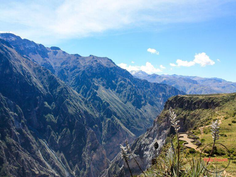 Paths over Colca Canyon