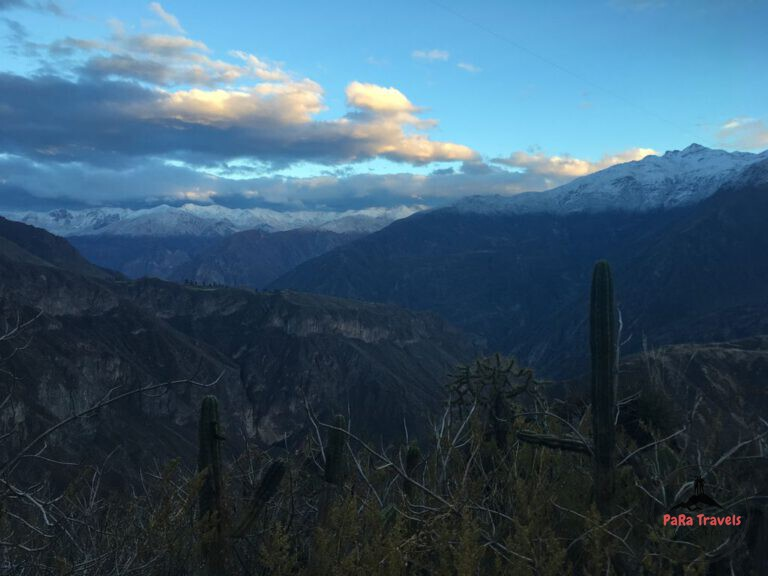 Sunrise during Colca Canyon trekking
